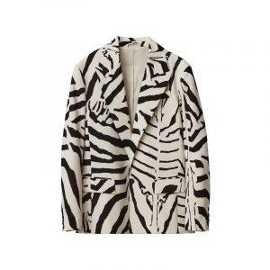 produktbild blazer mit zebra-muster
