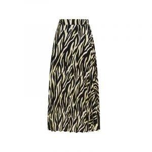 produktbild langer rock mit zebra-muster