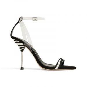produktbild high heel-sandale mit zebra-muster