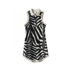 produktbild top mit polokragen und zebra-muster
