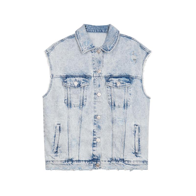 jeans-weste bershka