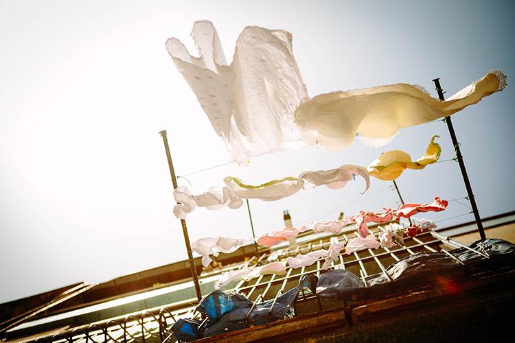 frische wäsche leine