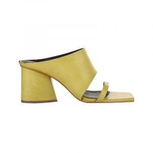 produktbild gelbe square-toe mules