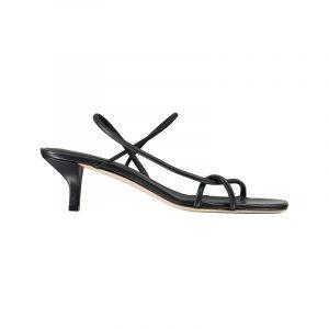 produktbild schwarze square-toe sandale
