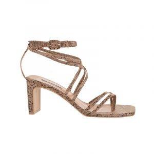 produktbild square-toe sandale mit schlangen print