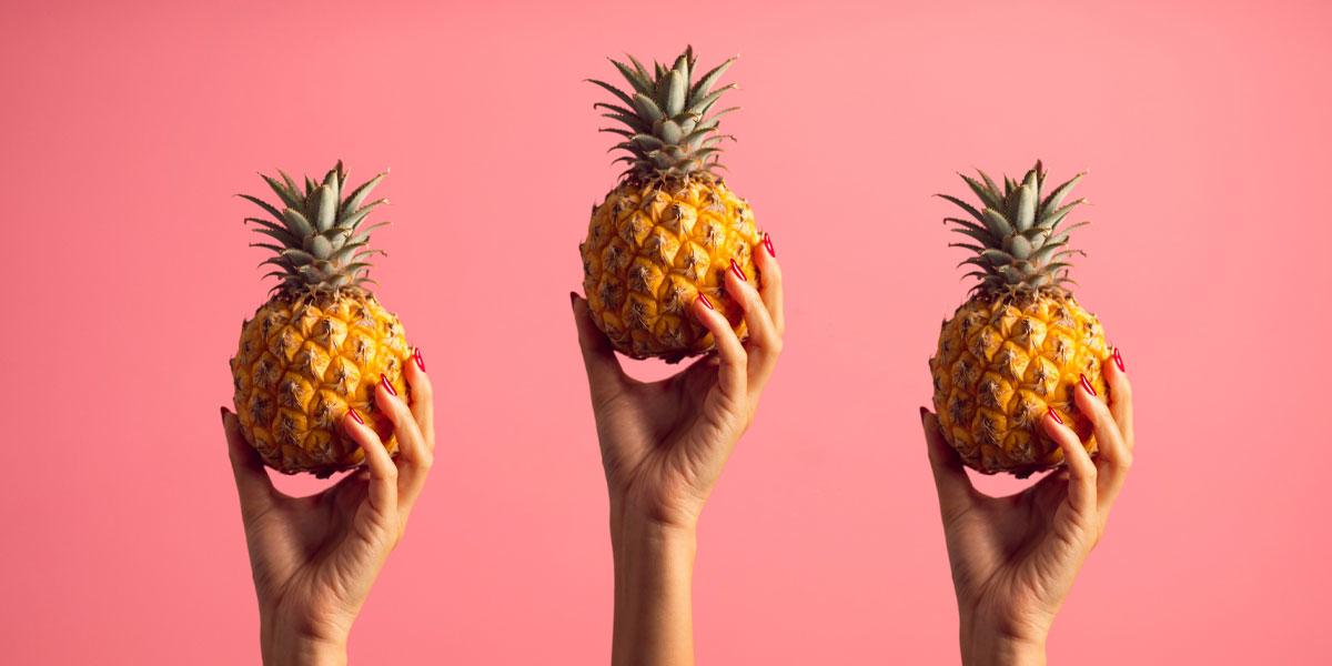 ananas hautpflege