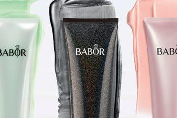 drei Maskentuben von Babor grün schwarz und lila
