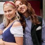 Ricardo Simonetti und Valentina Pahde im Trachtenlook von H&M