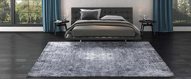 Schlafzimmer in Grautönen gestaltet