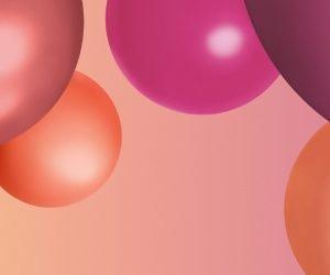 Pink Orange und Mauve Bubbles