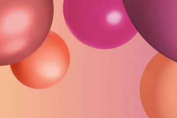 Pink Orange und Mauve Bubbles