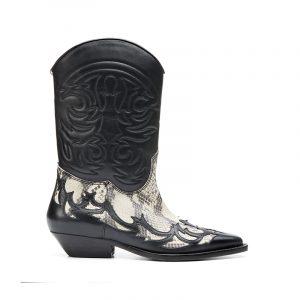 Cowboy Stiefel von Mango mit Snakeprint-Detail