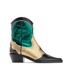 Metallischer Cowboy Stiefel von ZARA