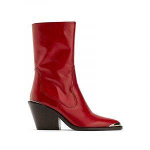 roter Cowboy Stiefel von Zara