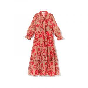 Prairiestil mit Blumen und Volants Beim Herbstkleid von Reserved