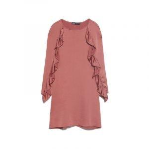 Volant Applikation an Ärmeln von ZARA Kleid
