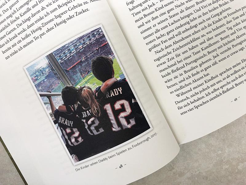 """Gisele Bündchen Blick in ihr Buch """"Lessons"""" - Bild ihrer Kinder"""
