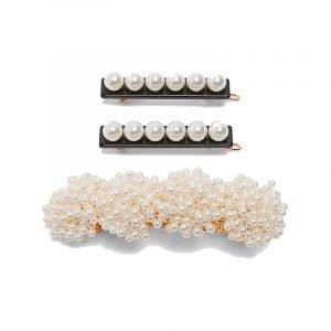 Haarspangen mit Perlenapplikation