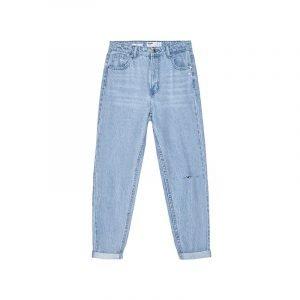 Slouchy Jeans aus hellem Denim