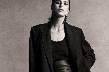 Oversize Blazer in schwarz von Frau mit Sleek Hair getragen
