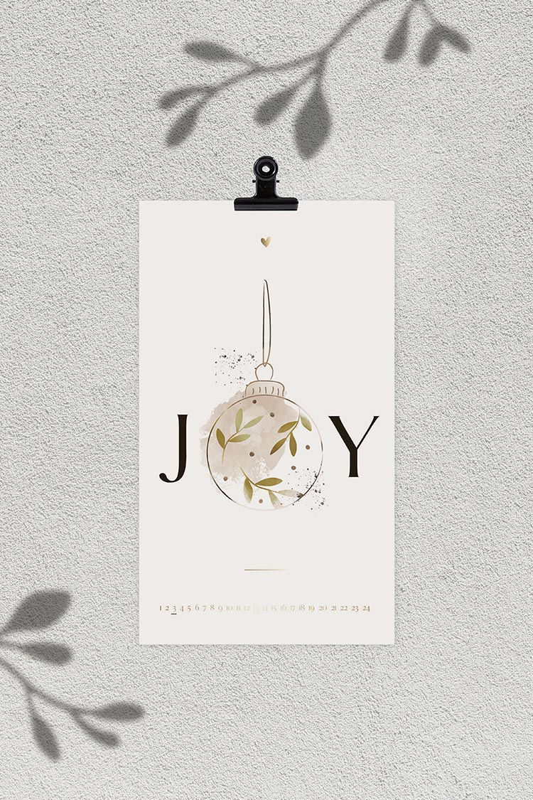 Postkarten Adventskalender von Jo & Judy