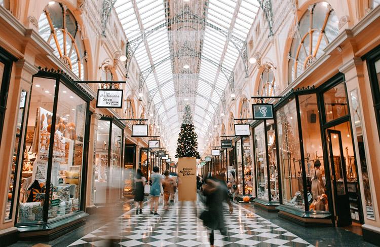 Einkaufszentrum Weihnachten