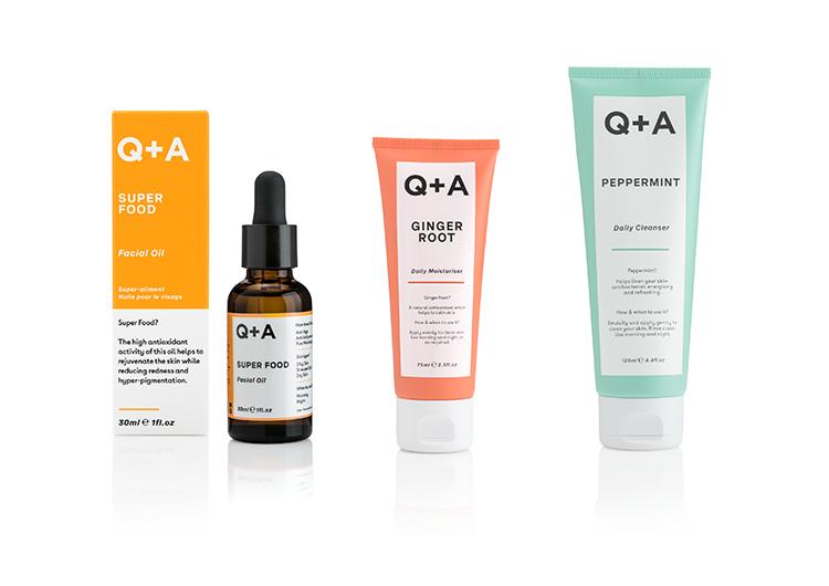 Hautpflege von Q + A