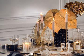 Deko-Ideen Silvesterparty geschmückter Tisch