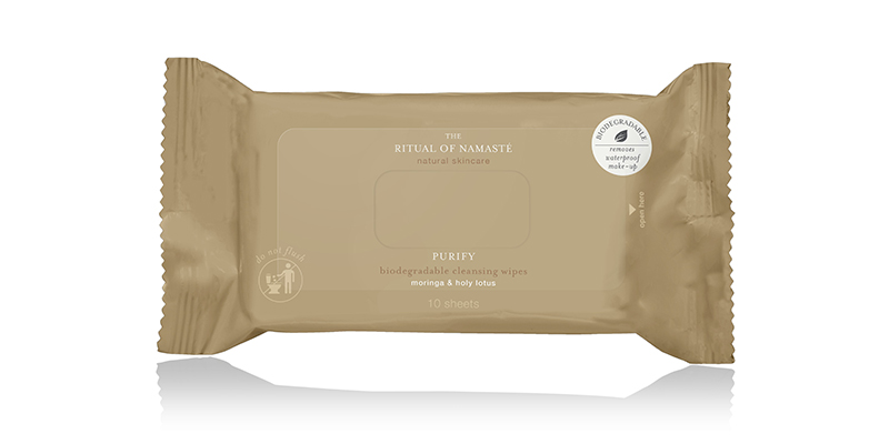 RITUALS Produktbild The Ritual of Namasté Purify Wipes Travel Size
