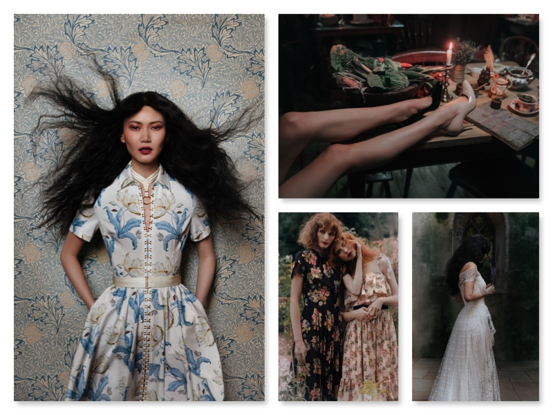 collage mit der kollektion von lena hoschek