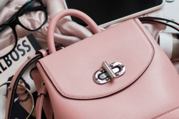 rosafarbene tasche
