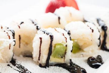 sushi mit schokolade