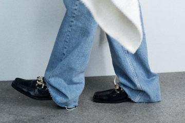 frau mit loafer