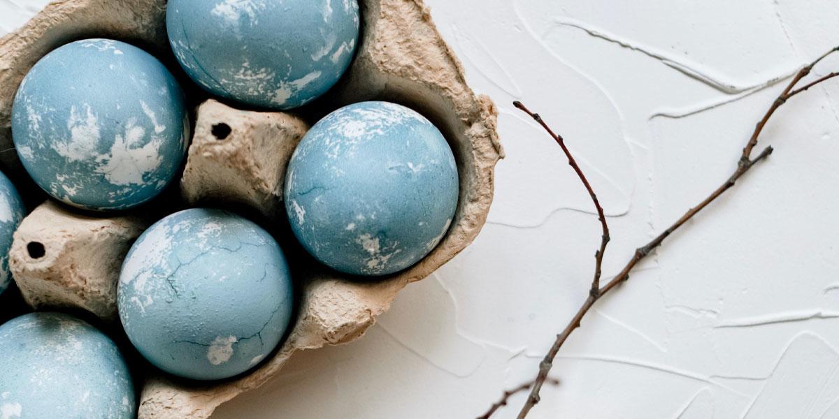 marble eggs ostereier