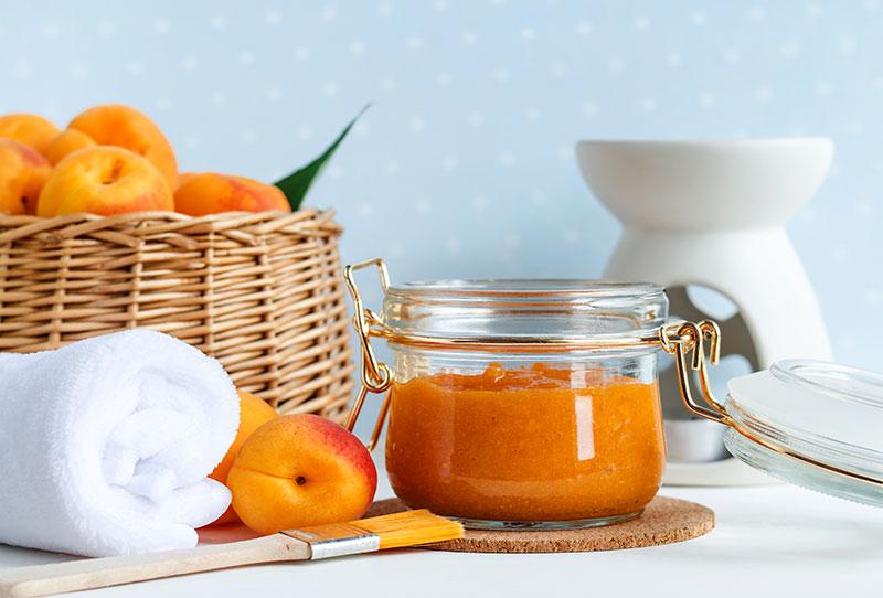 selbstgemachtes aprikosenpeeling