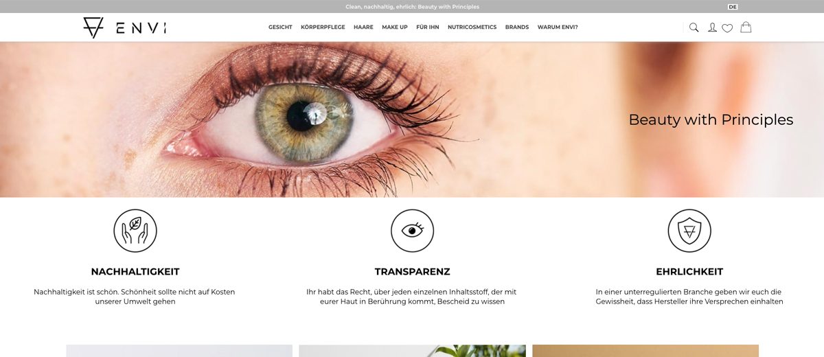 envi naturkosmetik onlineshop clean beauty