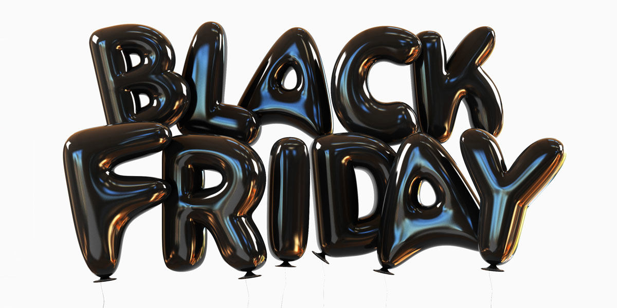 black friday aufschrift